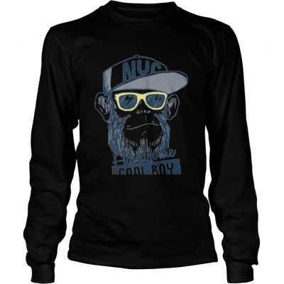 Monkey boy NYC Handsome cool boy longsleeve tee