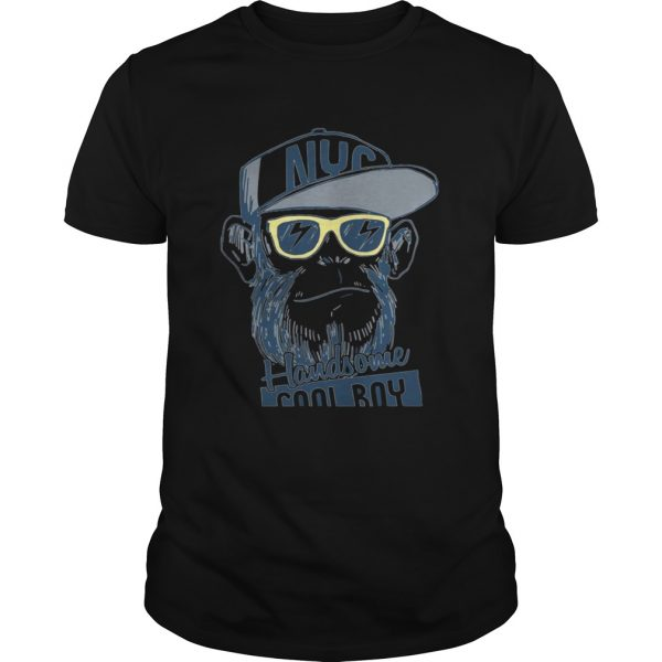 Monkey boy NYC Handsome cool boy shirt