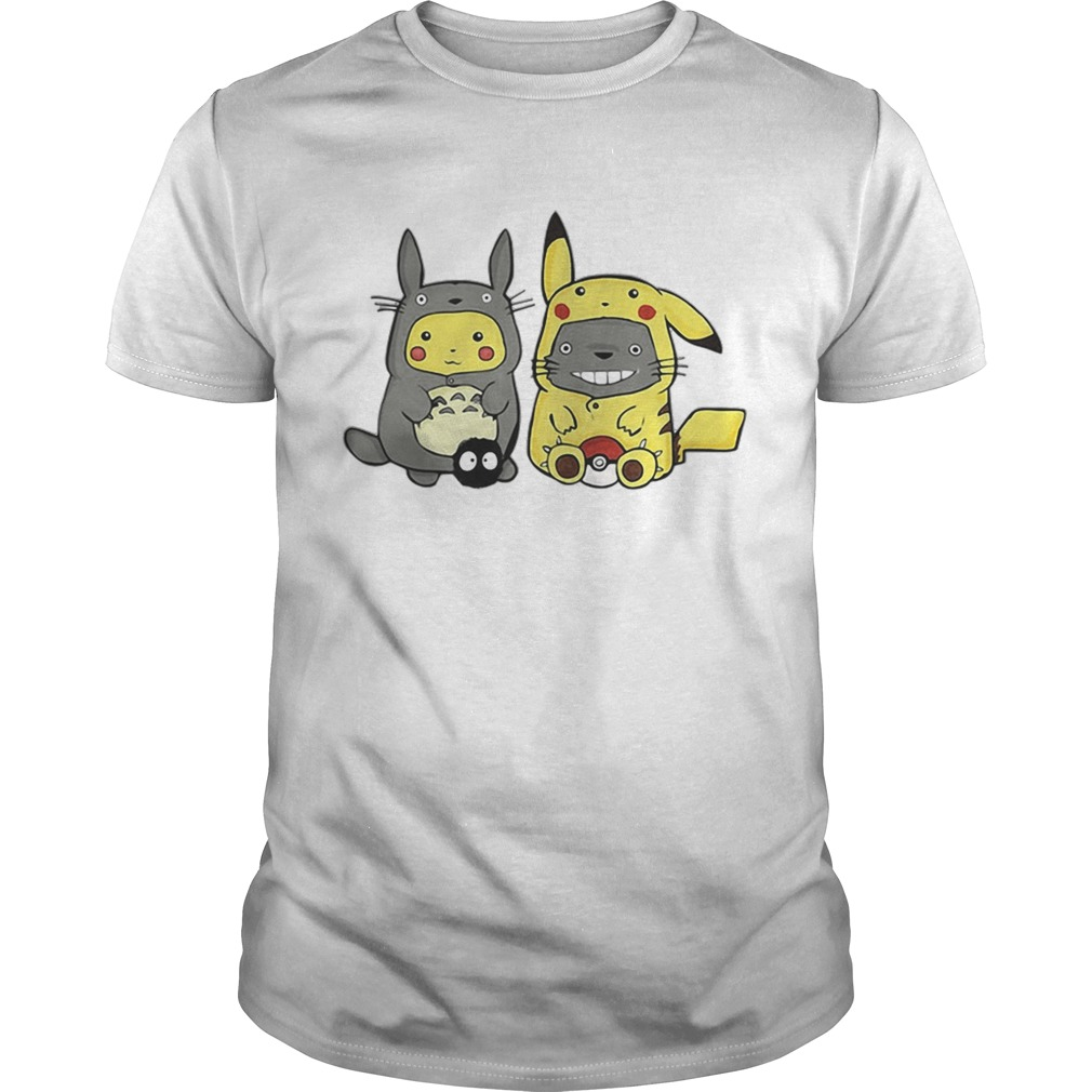 Pikachu and Totoro we are best friend shirt