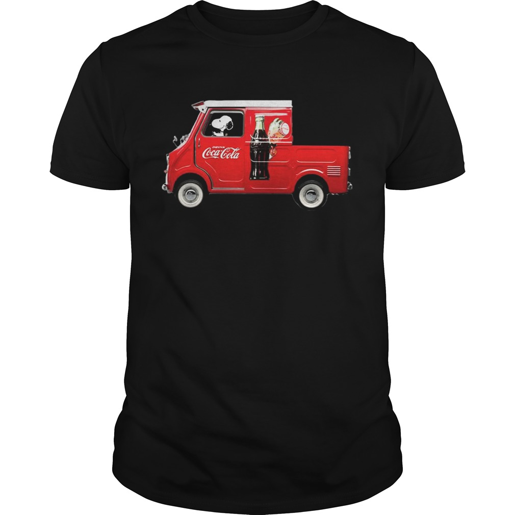 Snoopy Drink CoCa Red Car Shirt