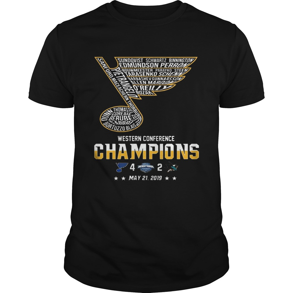 St Louis Blues Western Conference Champions 2019 Hockey Tshirt