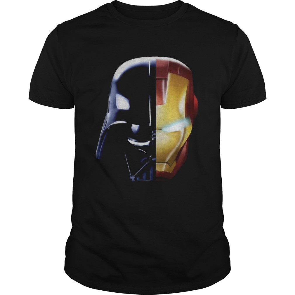 Star Wars Darth Vader Iron Man and Daft Punk shirt