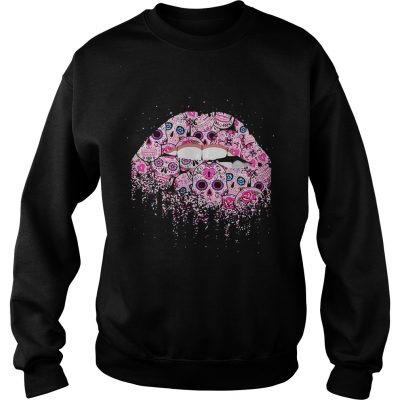 Sugar skull Rocky Horror Lips Day of the Dead sweatshirt