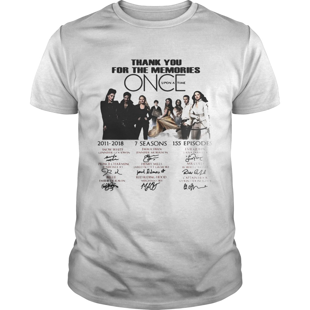 Thank you for the memories once upon a time shirt