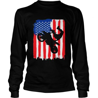The Freestyler Dirt Line Motor American Flag longsleeve tee