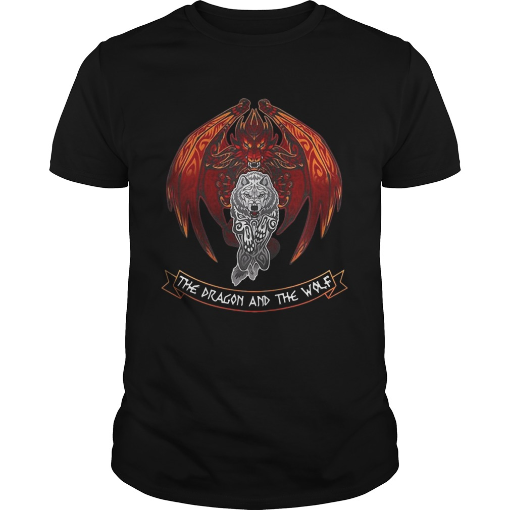 The dragon and the wolf Game of Thrones tshirt