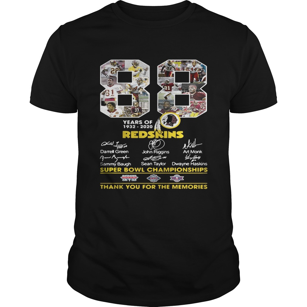 88 years of 19322020 Washington Redskins Signature shirt