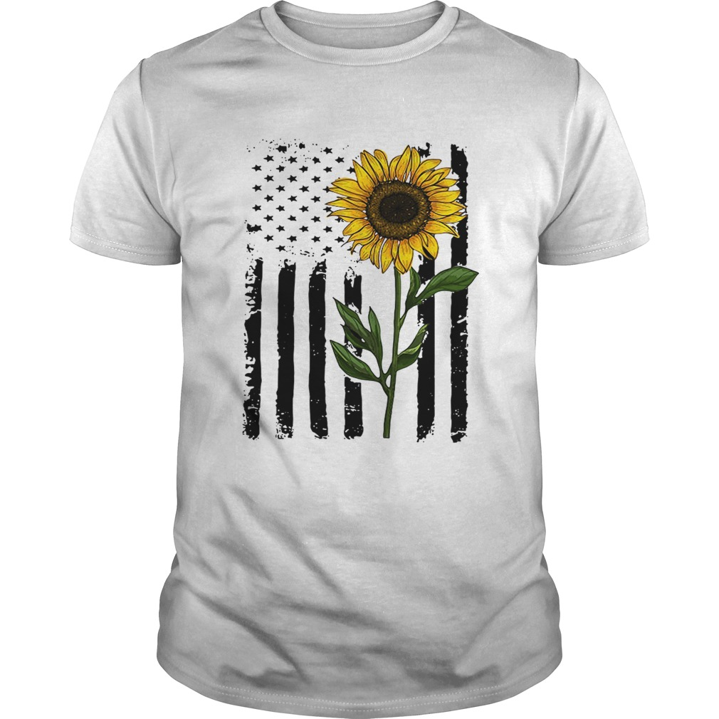 America flag sunflower Independence day 4th of July shirt
