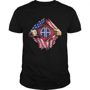 American flag 82nd Airborne Division shirt