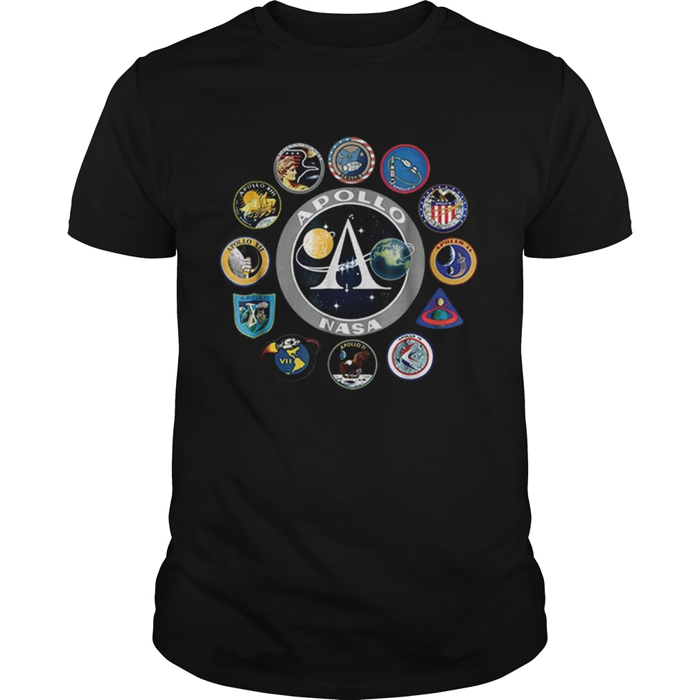 Apollo Missions Patch Badge NASA shirt