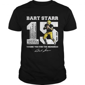 Bart Starr 15 19342019 thank you for the memories shirt