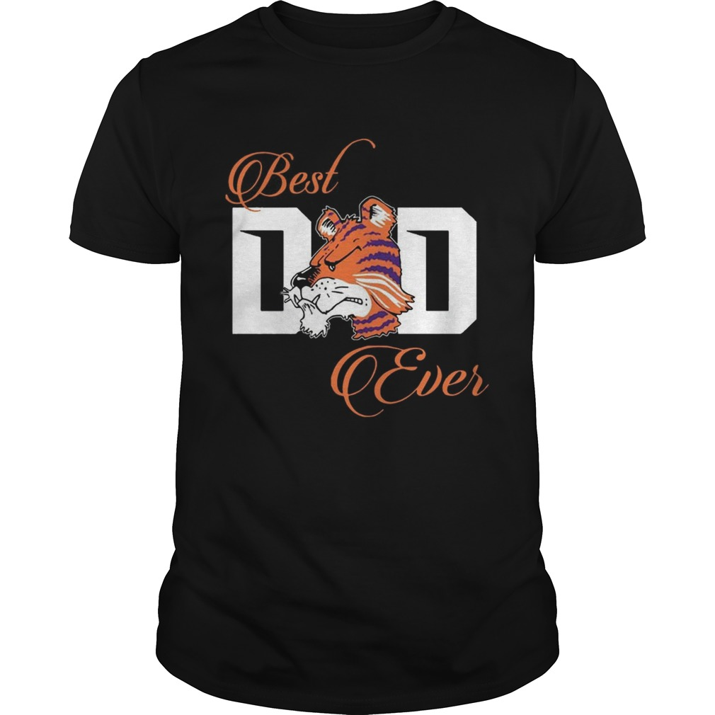 Best Clemson Tigers Dad Ever Football Tshirt