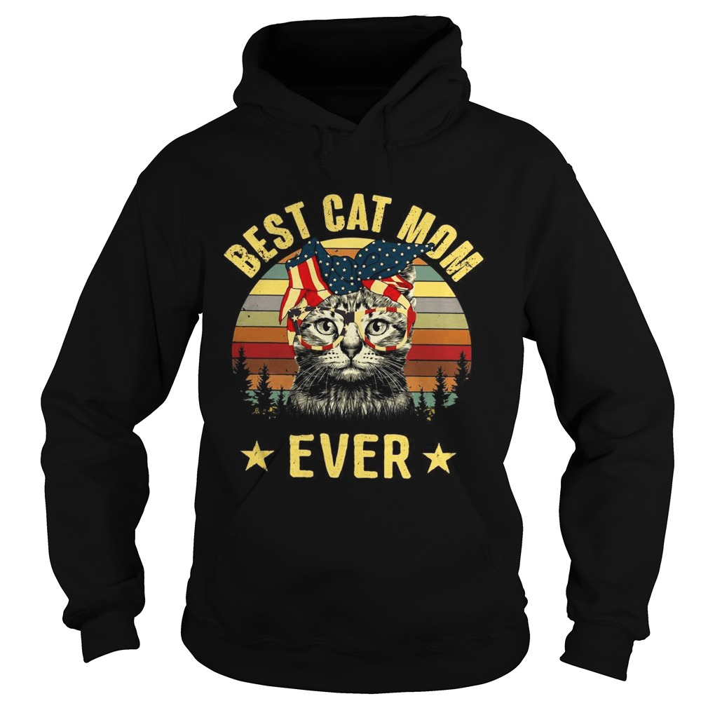 Best cat mom ever Independence Day Hoodie