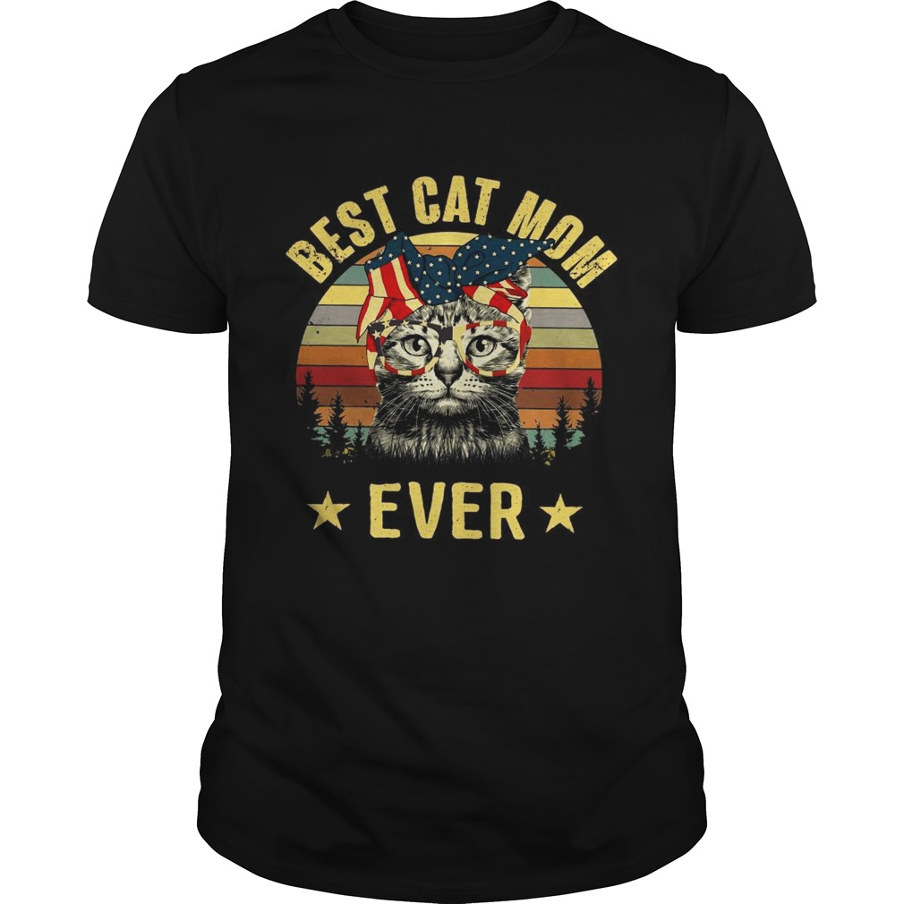 Best cat mom ever Independence Day shirt