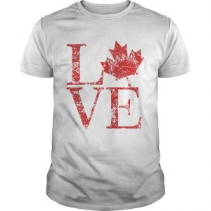 Canadian Love Canadian Live Canada Day shirt