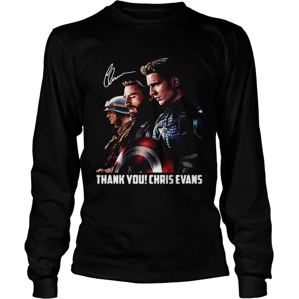 Captain America thank you Chris Evans signature LongSleeve