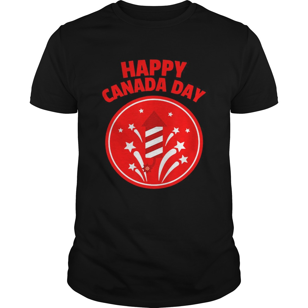Happy Canada Day Fireworks Shirt