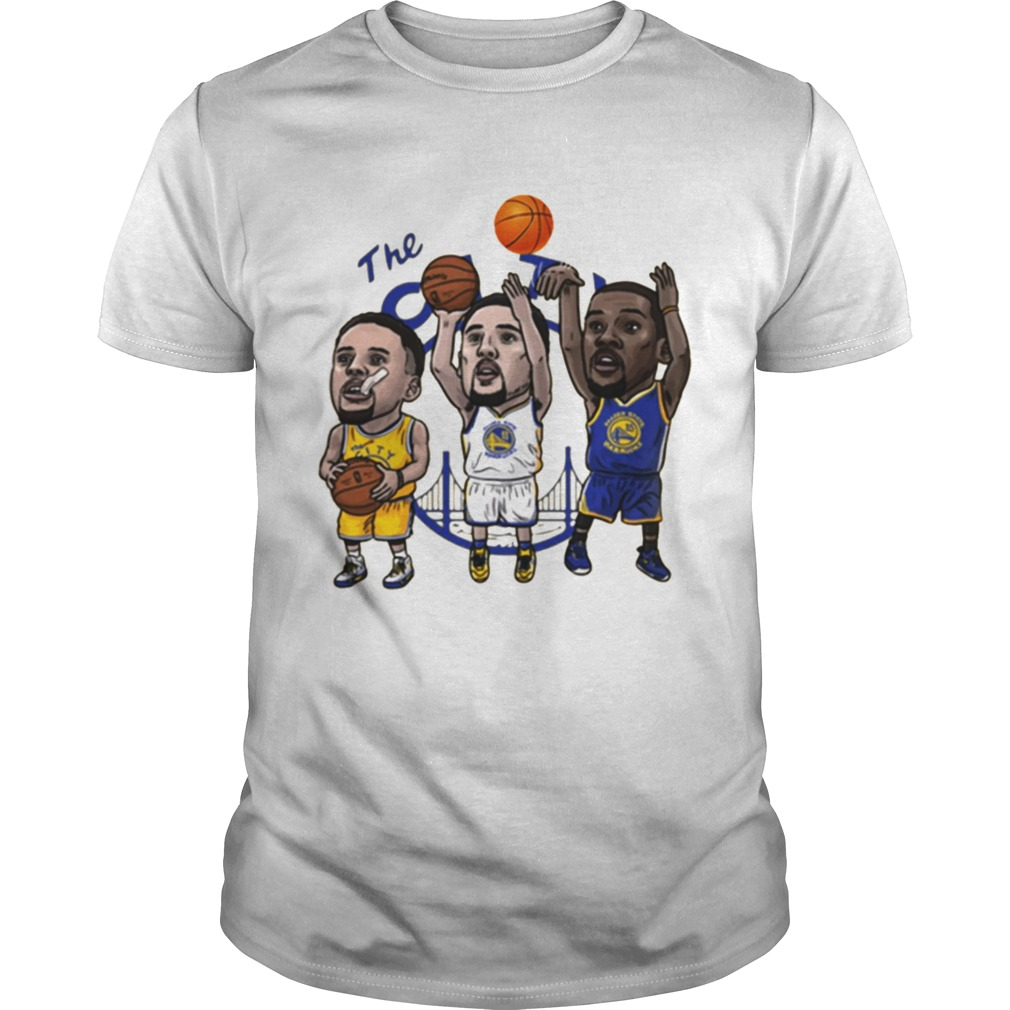 Klay Thompson Steph Curry Kevin Durant Cartoon Golden state shirt