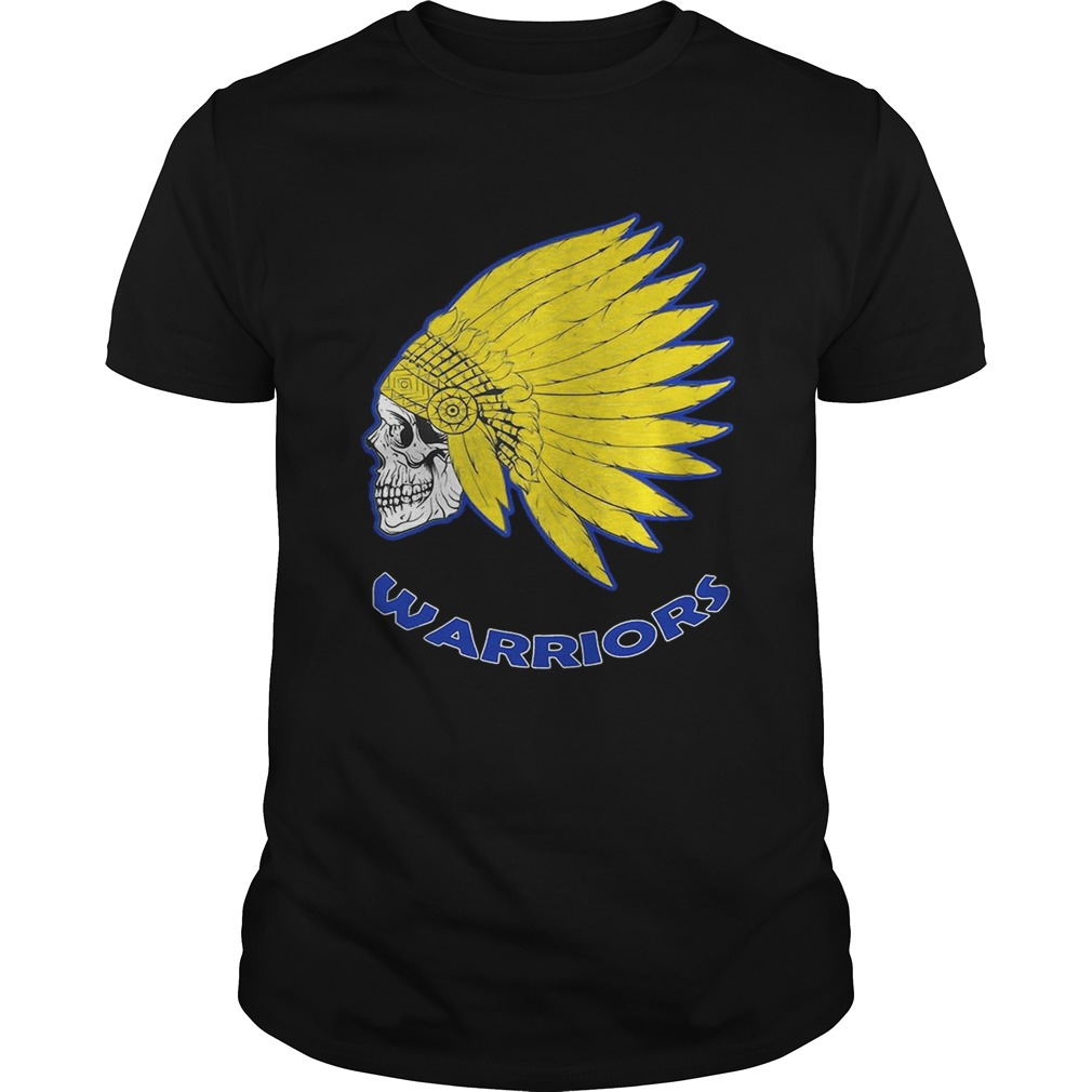Native American Skull Golden State Warriors Shirt