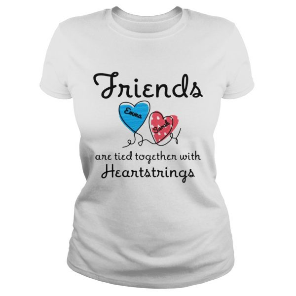Personalized Friends Are Tied Together With 2 Heartstrings TShirt Classic Ladies