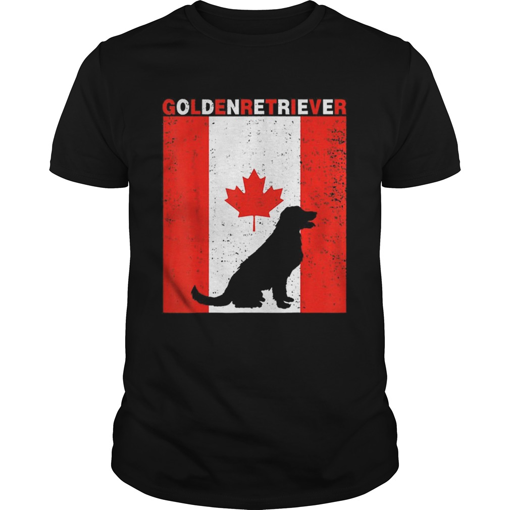 Premium Golden Retriever Canadian Flag 1st July Shirt