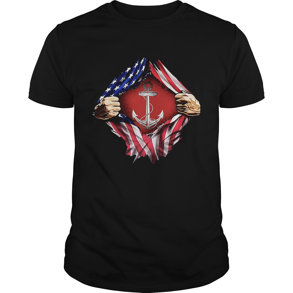 Sailor inside me US flag Independence day 4th of July shirt
