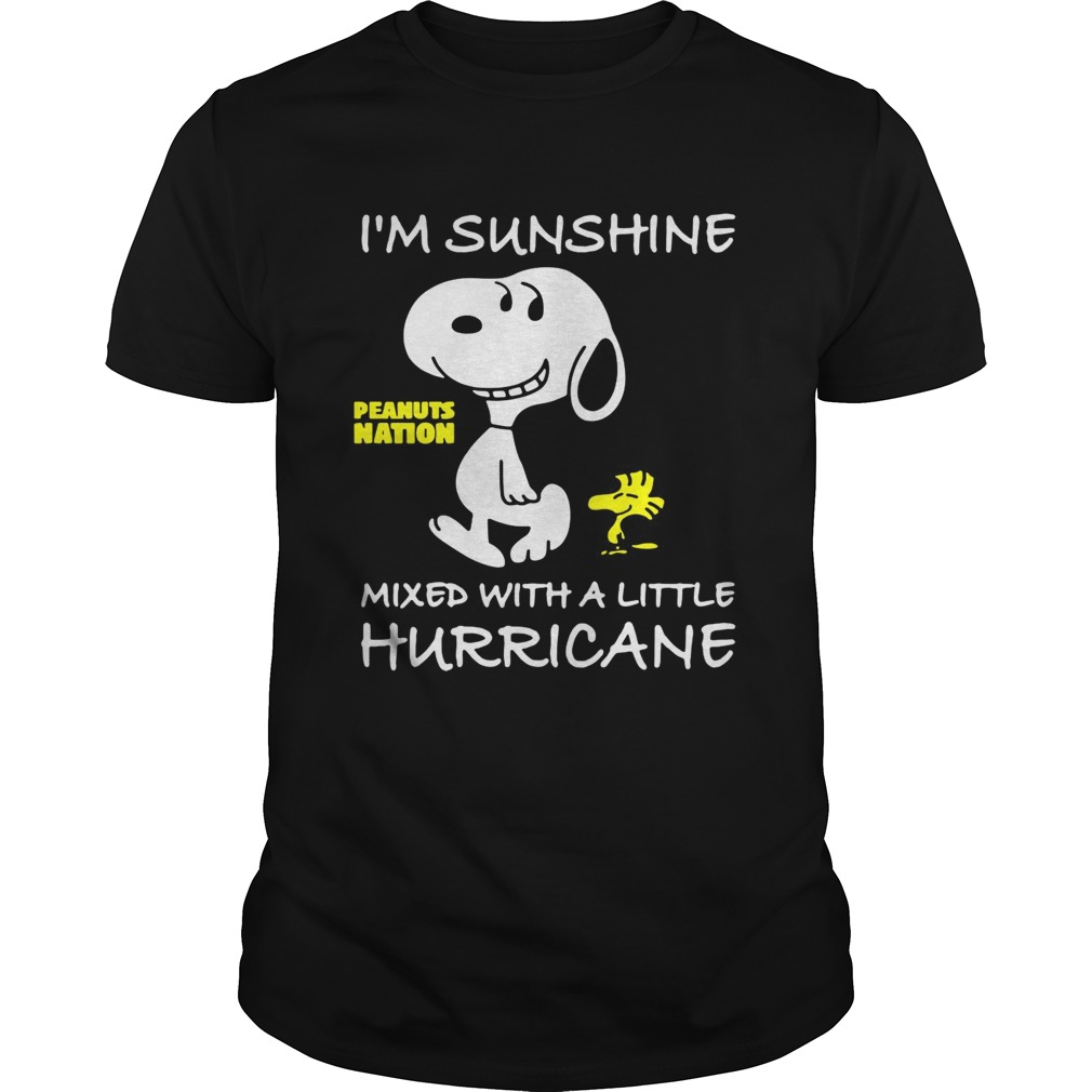 Snoopy and Woodstock Im sunshine mixed with a little hurricane shirt