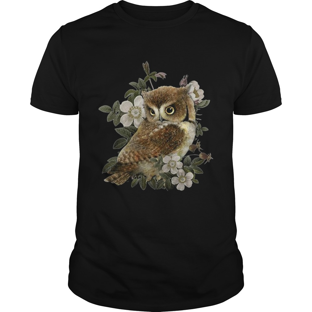 The Owl with flower shirt
