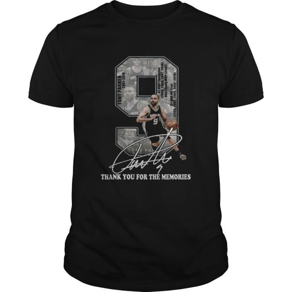 Tony Parker 2001 2018 thank you for the memories signature shirt