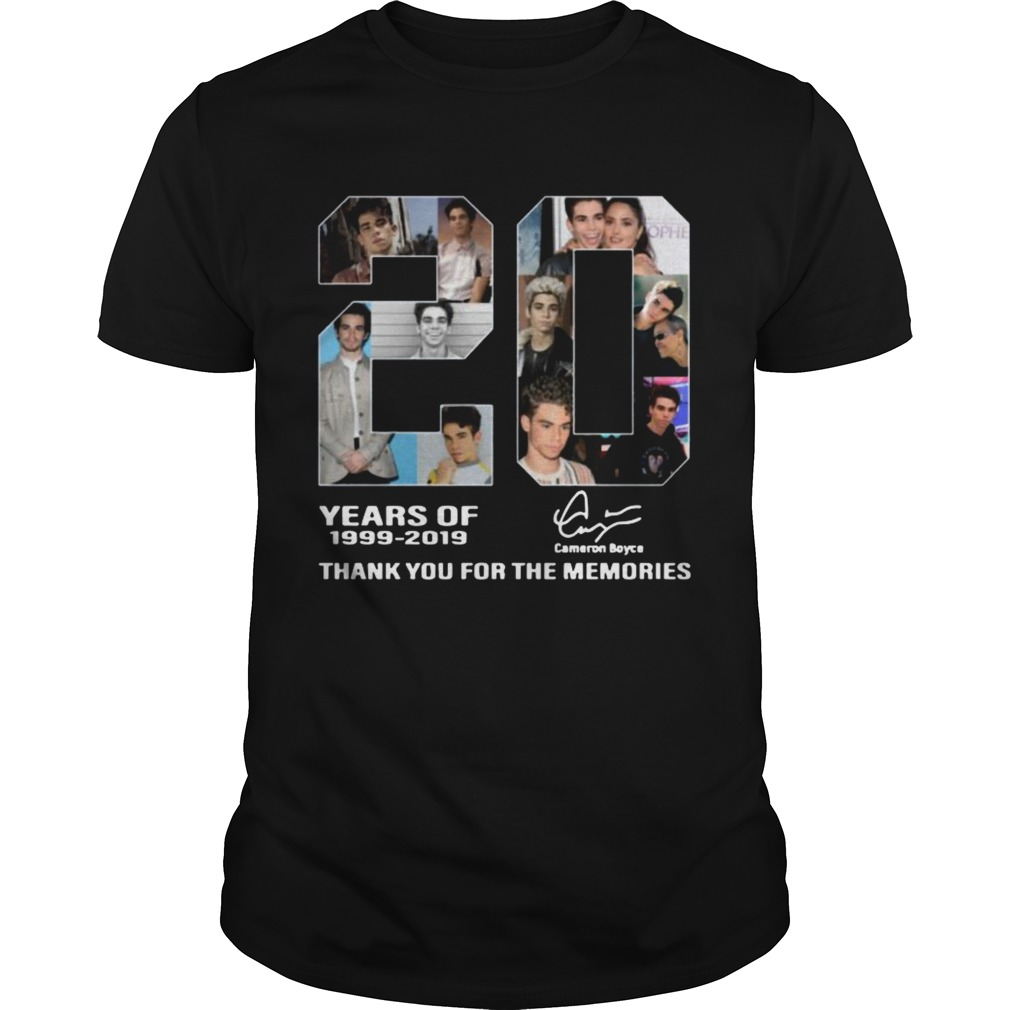 20 years of Cameron Boyce 19992019 thank you for the memories shirt