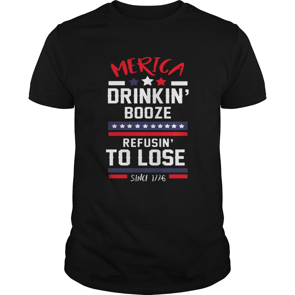 America drinking booze refusing to lose shirt