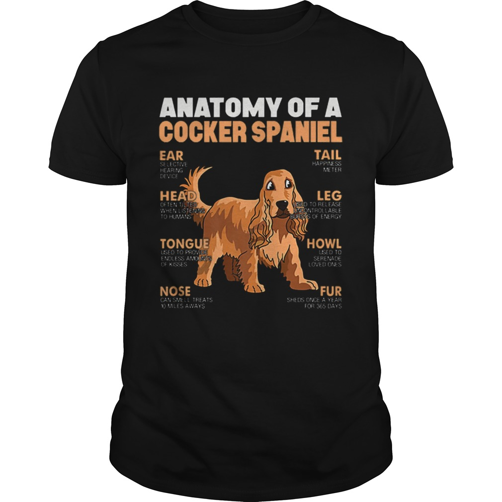 Anatomy Of A Cocker Spaniel The Function Of Dogs Part shirt