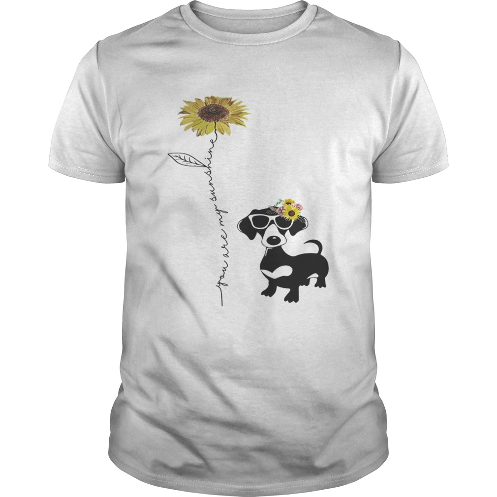 Awesome Dachshund You are my sunshine sunflower shirt