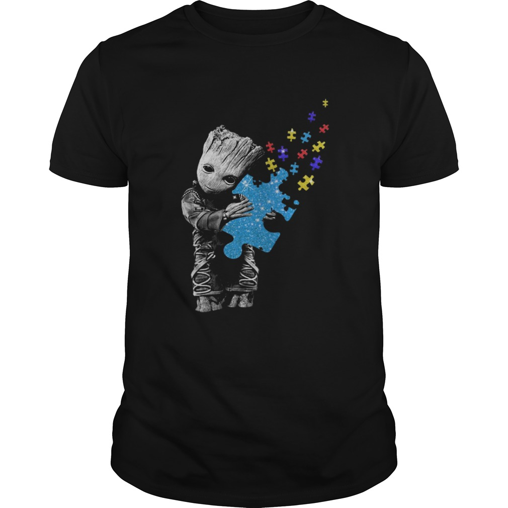 Baby Groot Hug Autism Awareness shirt