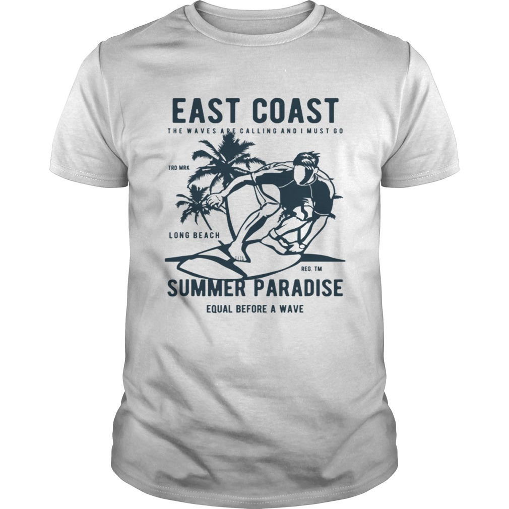 East Coast Summer Paradise Beach Vacation shirt