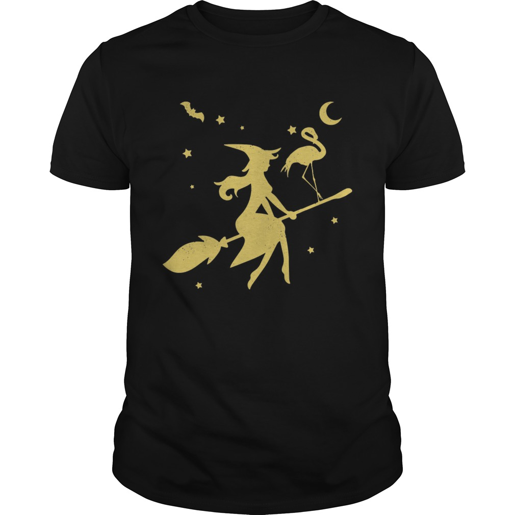 Flamingo Witch happy halloween shirt