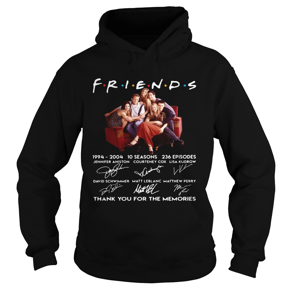 Friends TV show 1994 2004 10 seasons 236 episodes thank you for the memories  Hoodie