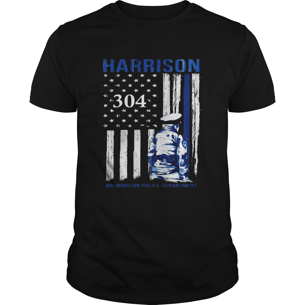 Harrison Wilmington Police Department American flag shirt