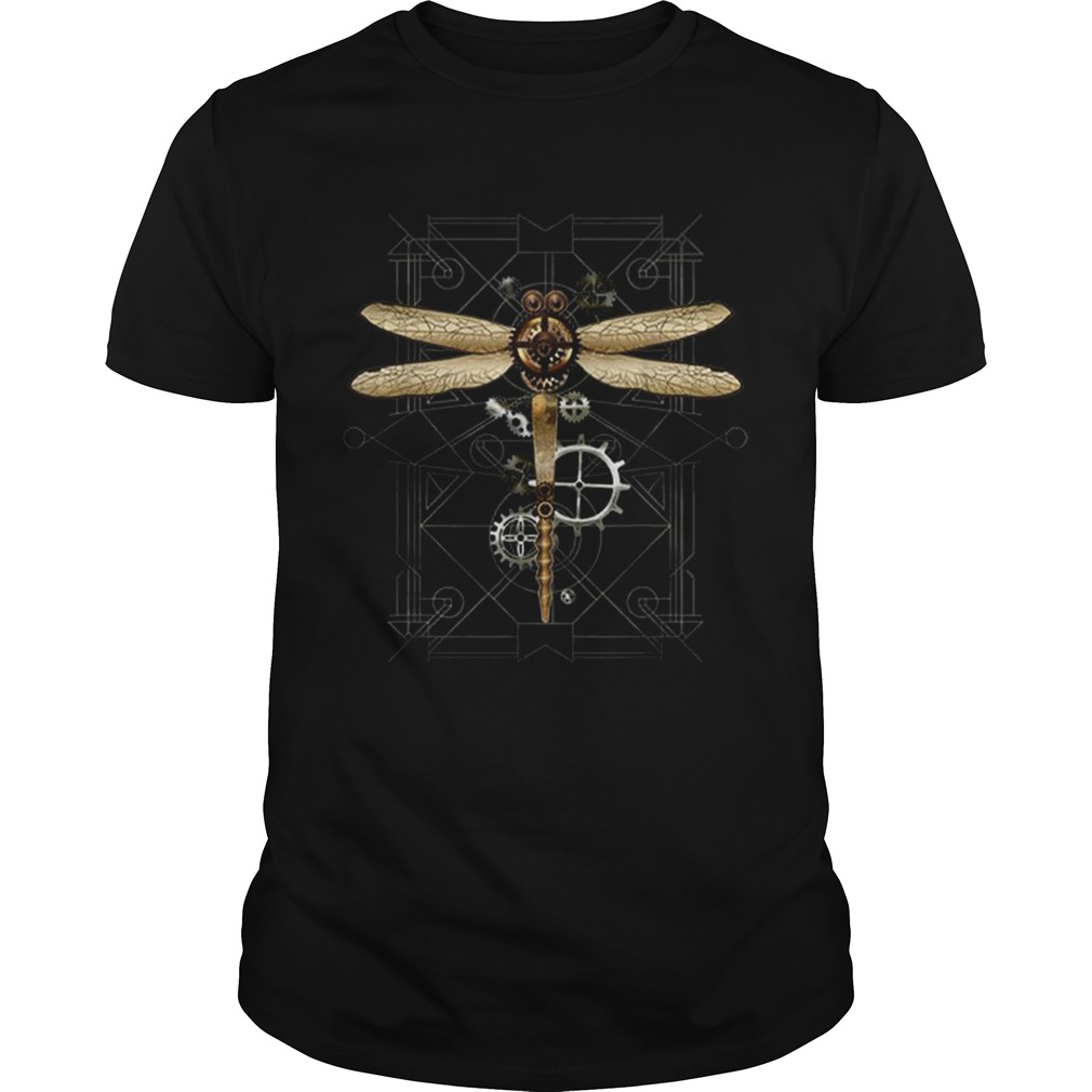 Hot Steampunk Dragonfly Vintage Gears Goth shirt