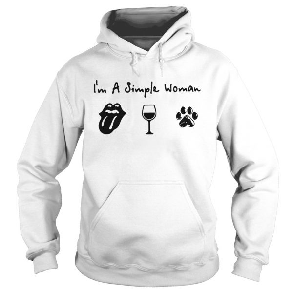 Im a simple woman I love Cardi B wine and dog Hoodie