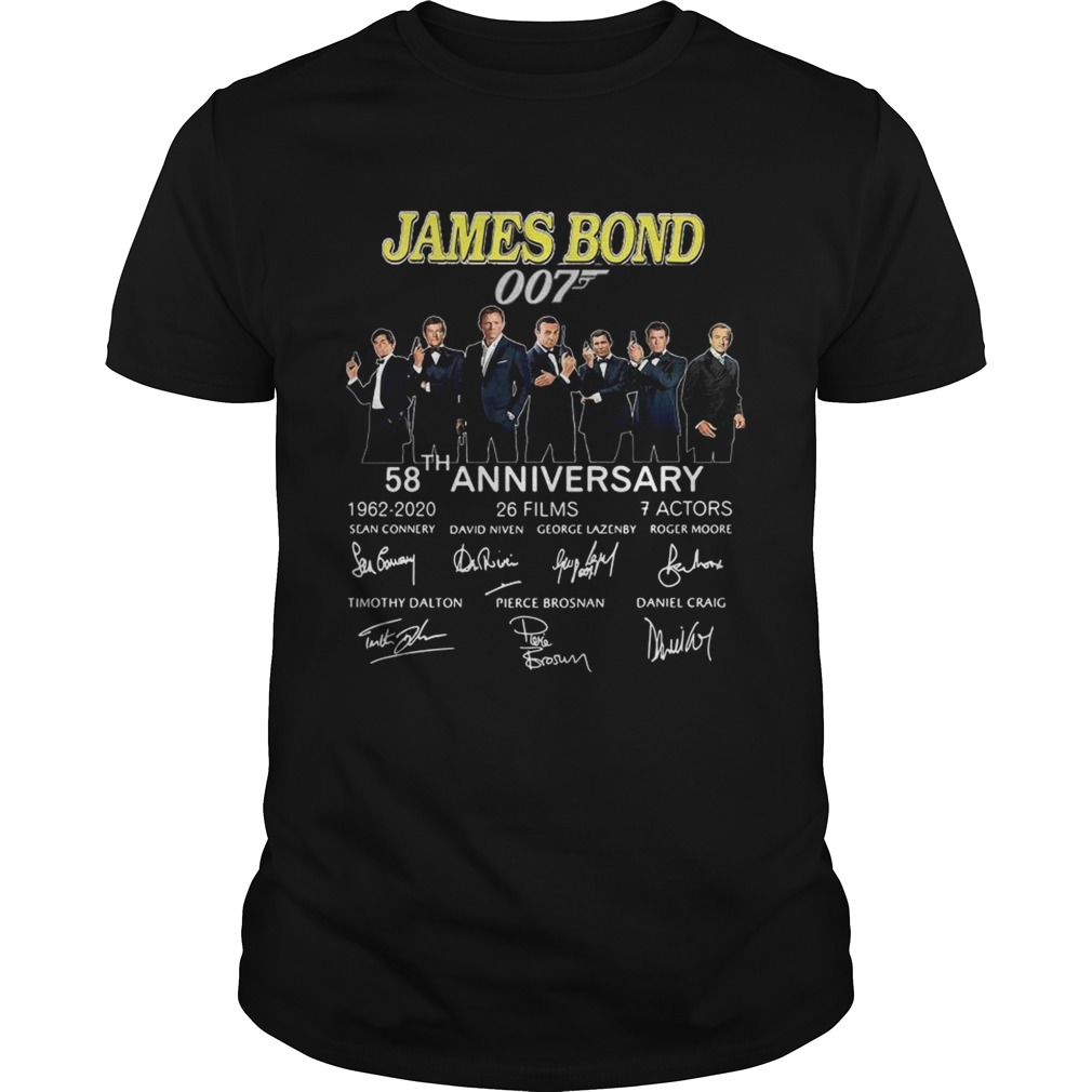 James Bond 007 58th anniversary signatures shirt