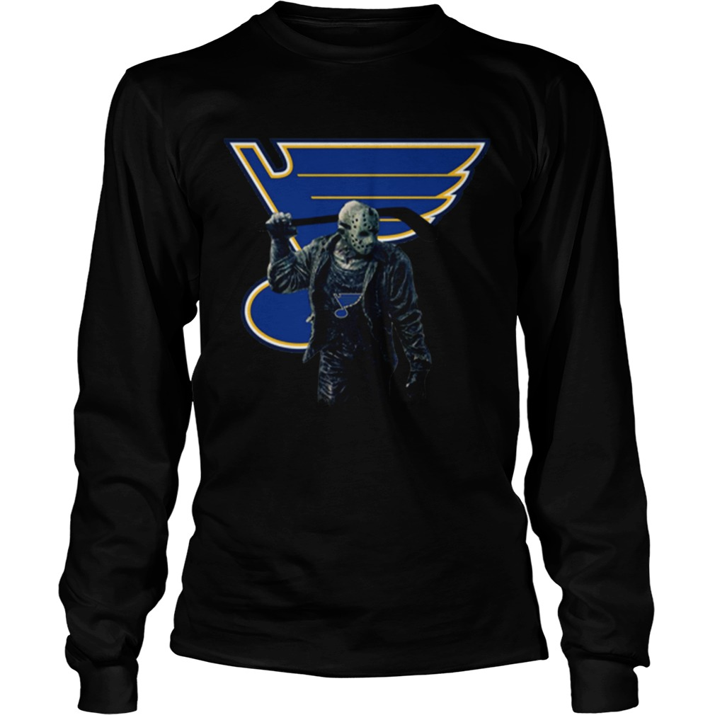Jason Voorhees St Louis Blues Champions Hockey LongSleeve
