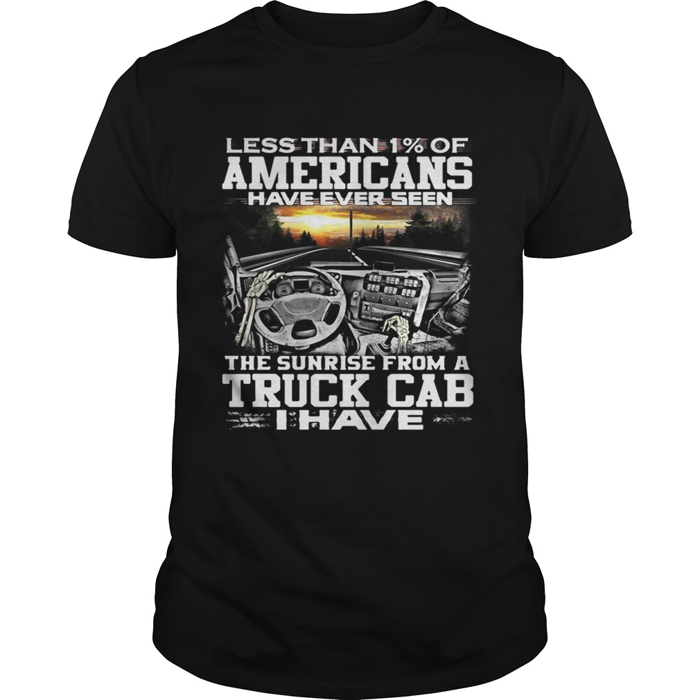 Less than 1 of Americans have ever seen the sunrise from a truck shirt