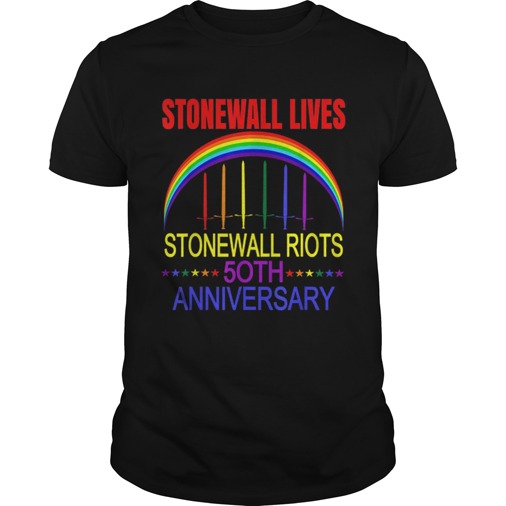 Lgbtq Gay Pride Stonewall Lives Riots Anniversary Rainbow shirt