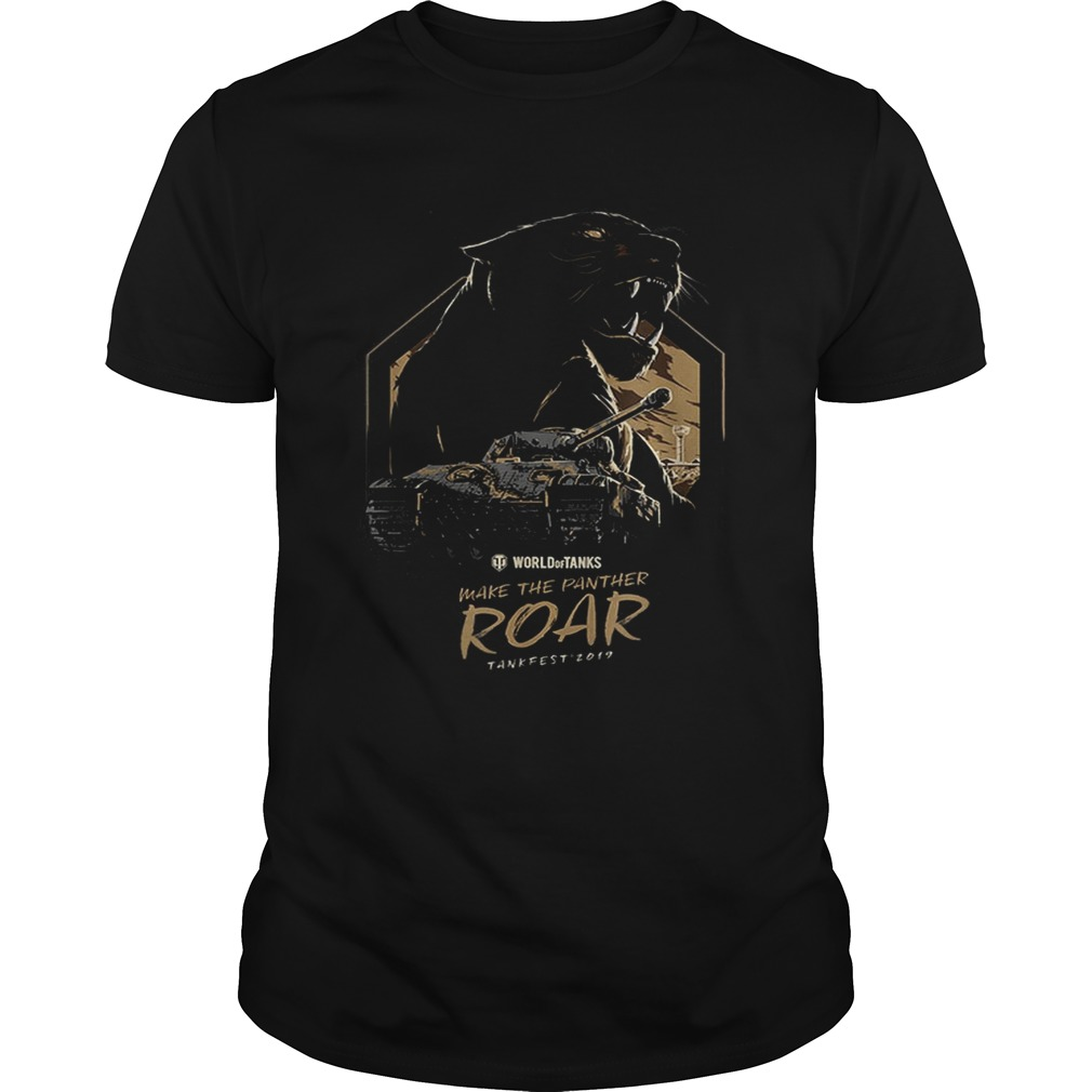Pretty World of Tanks Make the Panther Roar Tankfest Black Panther shirt