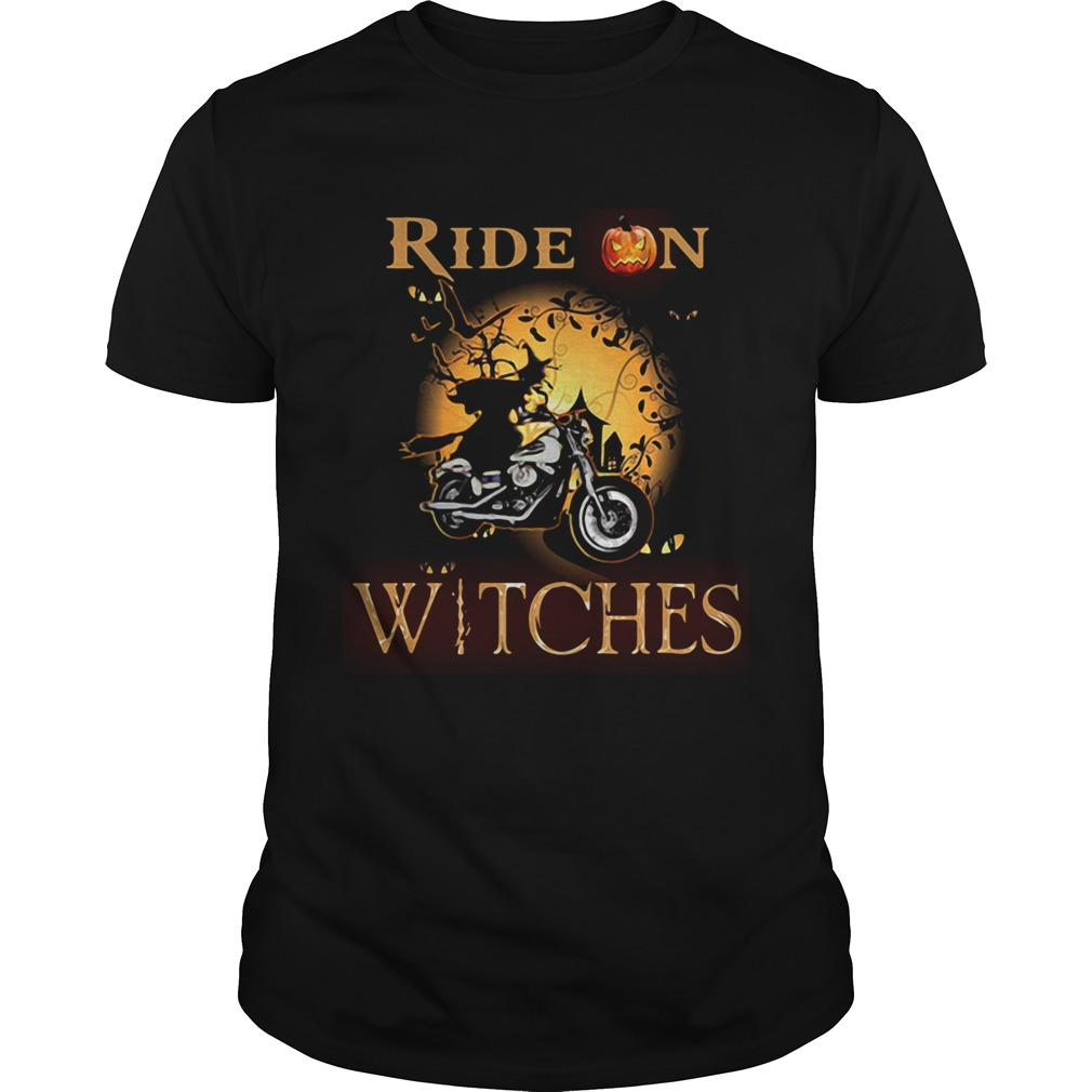 Ride on witches Motorcycle Halloween shirt