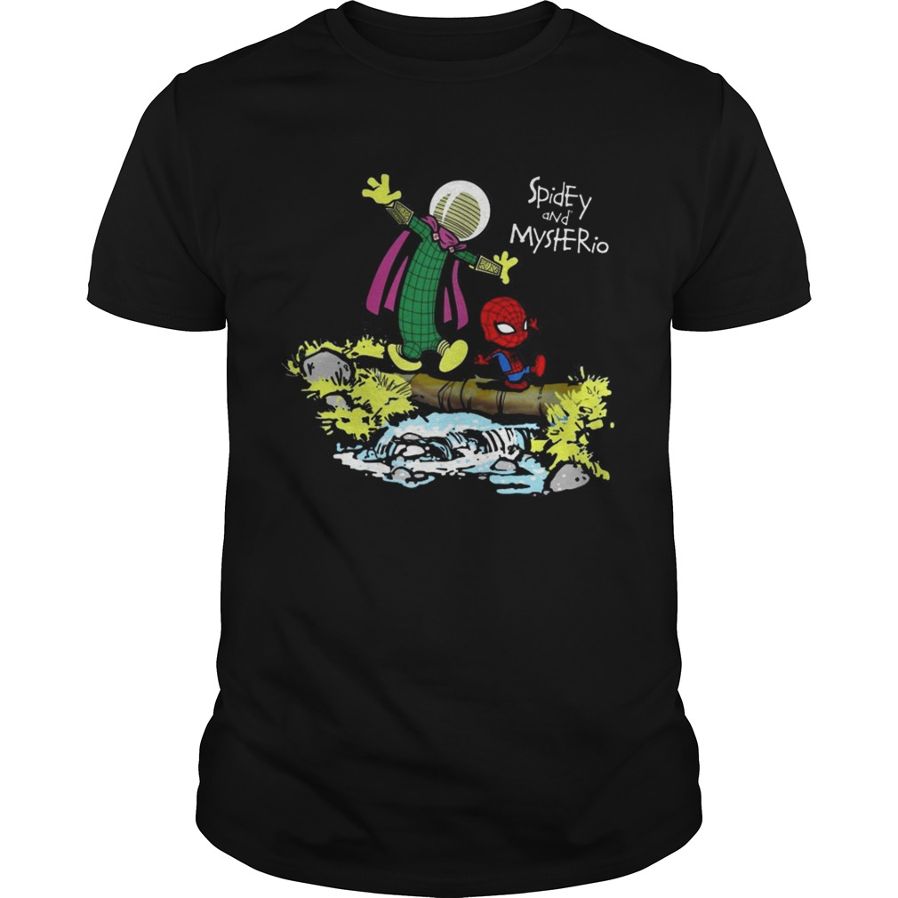 Spidey and Mysterio Calvin and Hobbes shirt