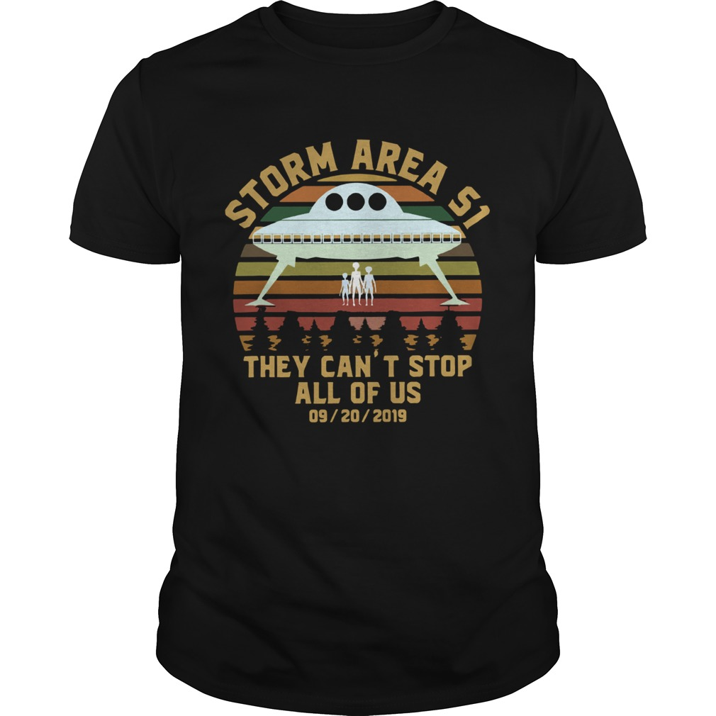 Storm Area 51 they cant stop all of us 09 20 2019 vintage shirt