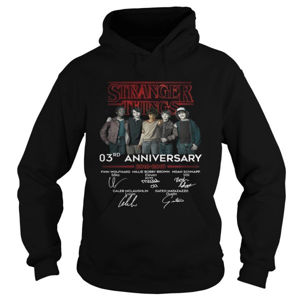 Stranger things 3RD anniversary 2016 2019 signature Hoodie