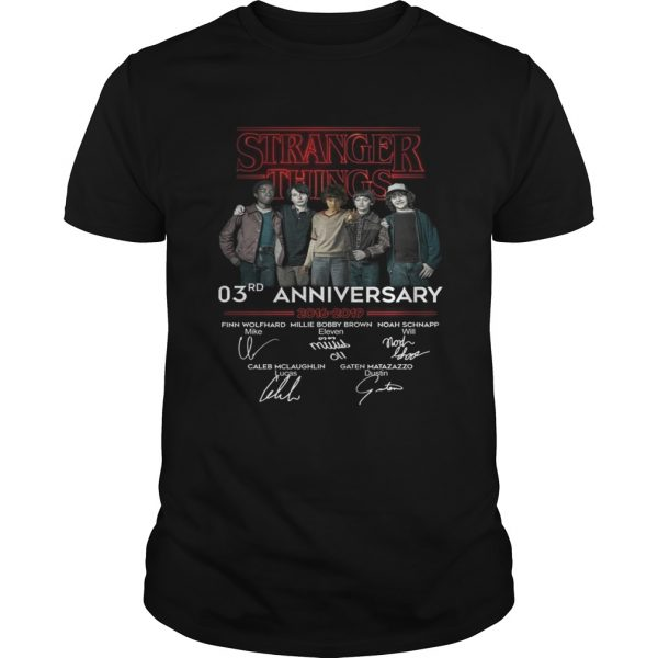 Stranger things 3RD anniversary 2016 2019 signature shirt